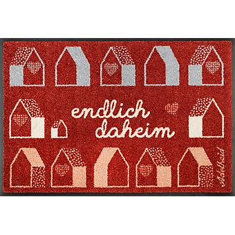 wash + dry doormat finally home 50 x 75 cm. washable dirt mat