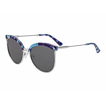 Bertha Hazel polarizada óculos de sol - prata/preto