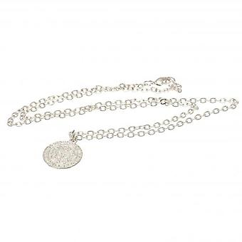 Leicester City Silver Plated Pendant & Chain