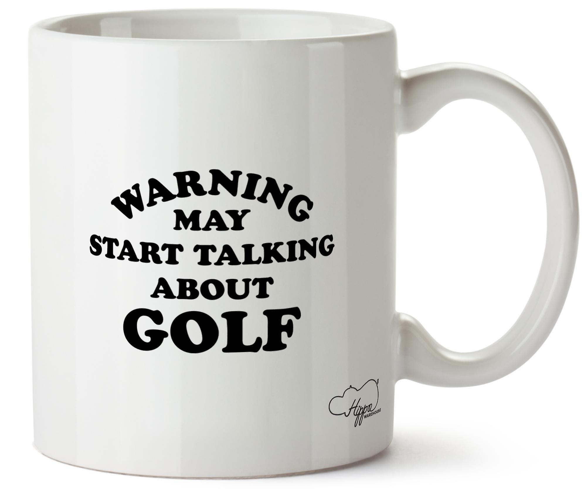 Hippowarehouse предупреждение может начать говорить о гольф печатных Кубка керамическая кружка 10oz