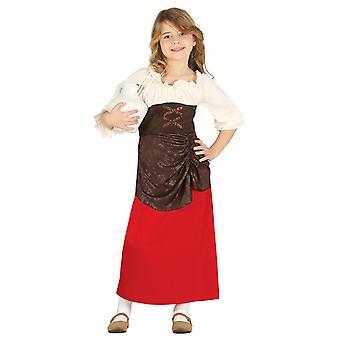 Girls Innkeeper Nativity Fancy Dress Costume