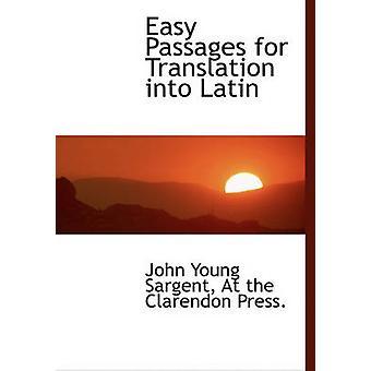 مقاطع سهلة للترجمة إلى اللاتينية قبل سارجنت آند جون يونغ
