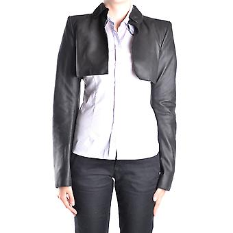 Daniele Alessandrini Ezbc107199 Women's Black Leather Outerwear Jacket