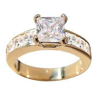 О, да! Ювелирные изделия золото гальванический нержавеющая сталь принцесса Вырезать кольцо