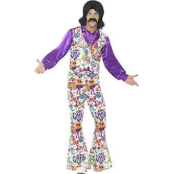 60er Jahre Hippie Blumenkind  Männer Kostüm