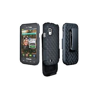 Verizon Samsung Fascinate i500 Rubberized Shell Holster Combo SAMI500HOC (Black) (Bulk Packaging)
