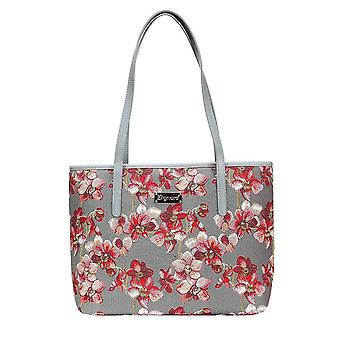 Orchid shoulder tote bag by signare tapestry / coll-orc