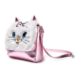 Disney The Aristocats Marie Shoulder Bag With Furry Flap Pink/White LB201808MRR