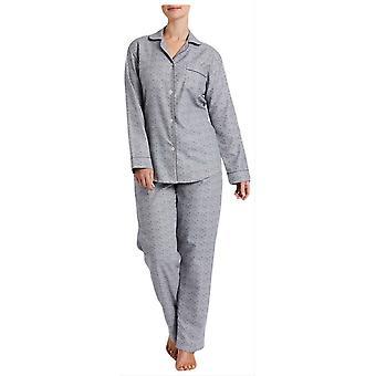 British Boxers Earl Rose Print Pyjamas - Grey