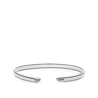San Francisco State University Engraved Sterling Silver Diamond Cuff Bracelet