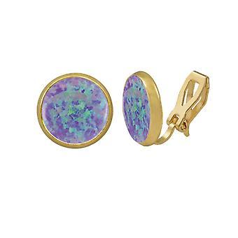 Eeuwige collectie Symphony lavendel Opal Gouden Stud Clip op oorbellen