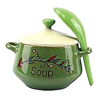 Lesser and Pavey Soup Bowl With Spoon