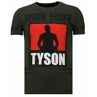 Iron Mike Tyson-strass T-shirt-khaki
