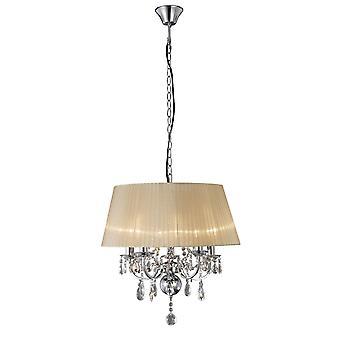 Diyas IL30045 Olivia hänge med mjuk brons nyans 5 Ljuspolerad krom/kristall