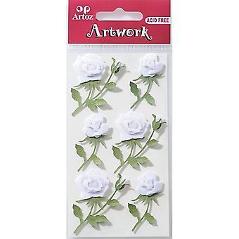 Roses blanches Craft embellissement par Artoz