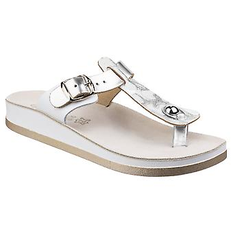 Fantasy Womens Viola Buckle Up Sandal Silver Antilope