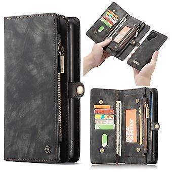 CASEME Samsung Galaxy Note 10 Plus Retro Wallet Caso-Gris