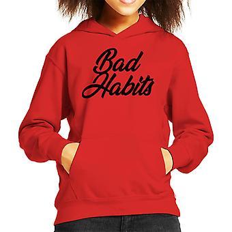 Bad Habits Kid's Hooded Sweatshirt