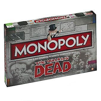 Le jeu de société Monopoly morts à pied