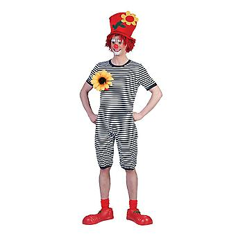 Clown Costume Swimsuit Blue White