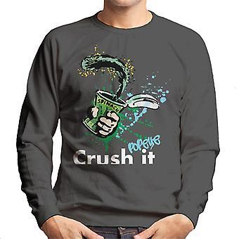 Popeye Spinach Crush It Men's Sweatshirt