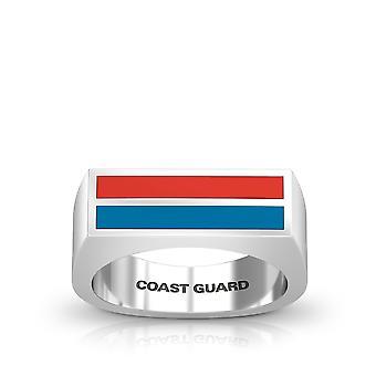 US Coast Guard Ring In Sterling Silver Design by BIXLER
