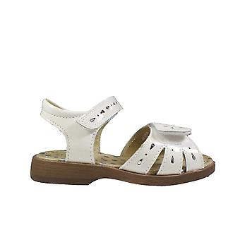 Startrite Flutter White Patent Leather Girls Rip Tape Sandals