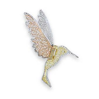 14k Tricolor Gold Humming Bird Pin Jewelry Gifts for Women - 3.2 Grams