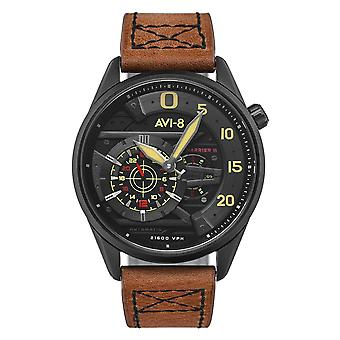 AVI-8 AV-4070-04 Hawker Harrier II Brown Strap Wristwatch