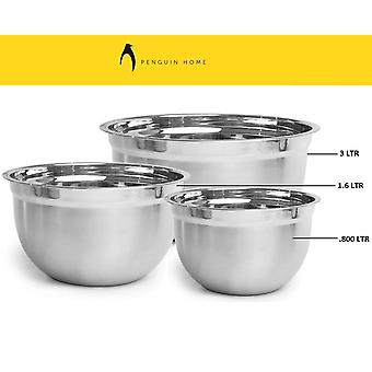 Penguin Home Professional Mixing Bowl Measuring Guide