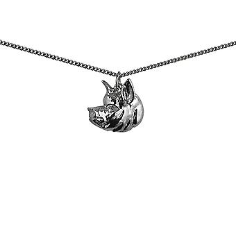 Silver 19x19mm Pig Head Pendant with a 1.3mm wide curb Chain 18 inches