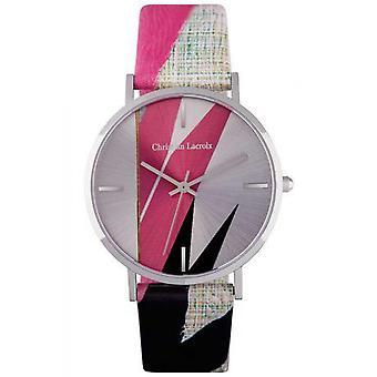 Christian Lacroix CLFS1802 Watch-naisten malli nahka ranne koru
