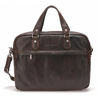 Leather Vachette Destroy Briefcase - Zipp E Outer Pocket