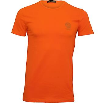 Versace Iconic Rundhals-T-Shirt, Orange