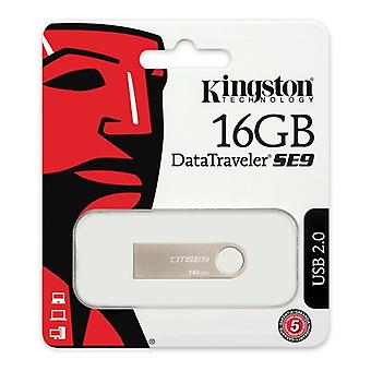 Pendrive Kingston FAELAP0171 DTSE9H 16 GB USB 2,0 Silver metal