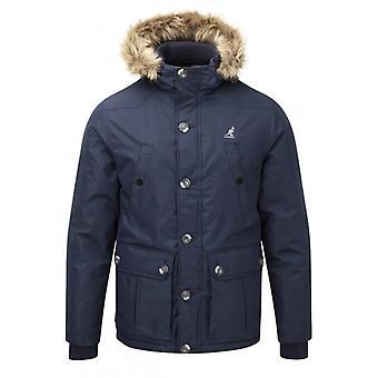 Kangol Mens Kingsize Big Size Padded Quilted Fashion Parka Winter Jacket Coat