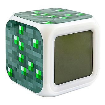 Minecraft Digital Alarm Clock - Emerald Ore