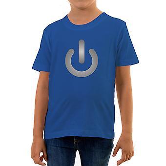 Reality glitch power sign kids t-shirt
