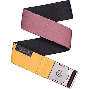 Arcade Ranger Webbing Belt in Deep Cassis/Color Block