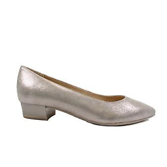 Caprice 22200 Taupe Leather Womens Slip On Court Shoes