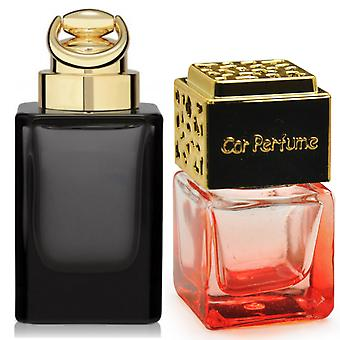 Gucci OUD For Him Inspired Fragrance 8ml Red Bottle Gold Lid Car Air Freshener Vent Clip
