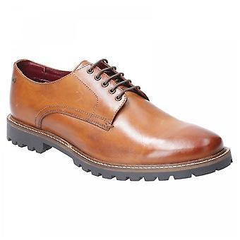 Base London Tan Leather Hogan Washed Lace Up Shoes