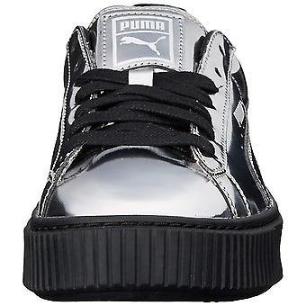 PUMA Womens basket platiorm metallic Low Top Lace Up Fashion Sneakers