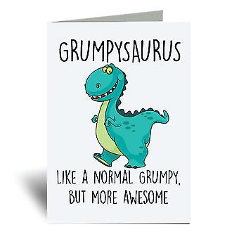 Grumpysaurus A6 Greeting Card