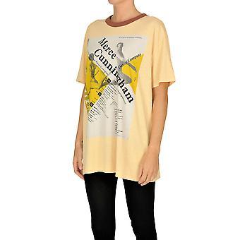 Acne Studios Ezgl151044 Women's Orange Cotton T-shirt