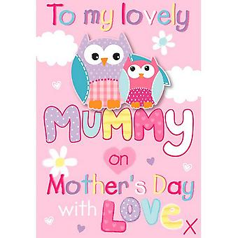 Eurowrap Owl Mothers Day Greetings Card