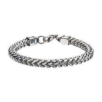 Men's FRANCO chain stainless steel bracelet - silver, 6mm