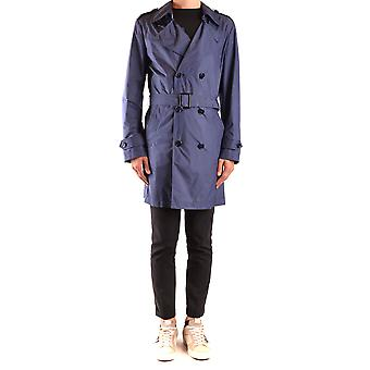 Fay Ezbc035071 Men's Blue Polyester Trench Coat
