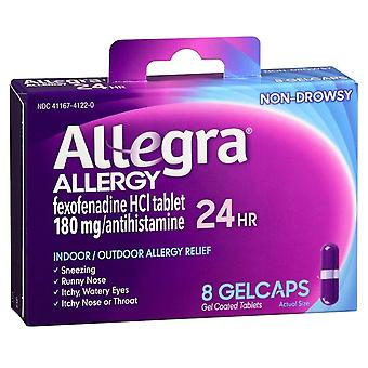 Allegra 24 hour allergy, 180 mg, gelcaps, 8 ea