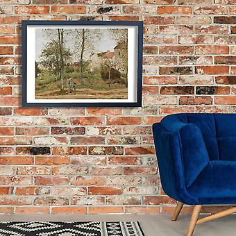 Camille Pissarro - domy w Bougival jesień plakat Giclee druku